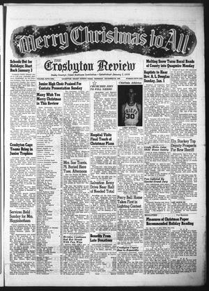 The Crosbyton Review. (Crosbyton, Tex.), Vol. 52, No. 51, Ed. 1 Thursday, December 22, 1960