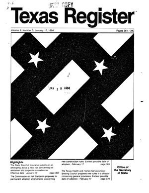 Primary view of object titled 'Texas Register, Volume 9, Number 5, Pages 361-390, January 17, 1984'.