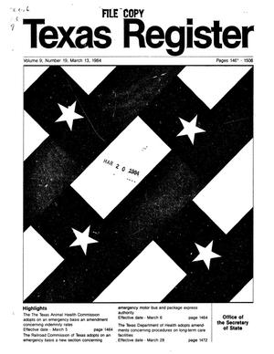Primary view of object titled 'Texas Register, Volume 9, Number 19, Pages 1462-1506, March 13, 1984'.