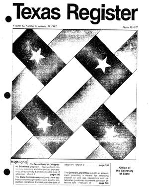 Primary view of object titled 'Texas Register, Volume 12, Number 8, Pages 323-372, January 30, 1987'.