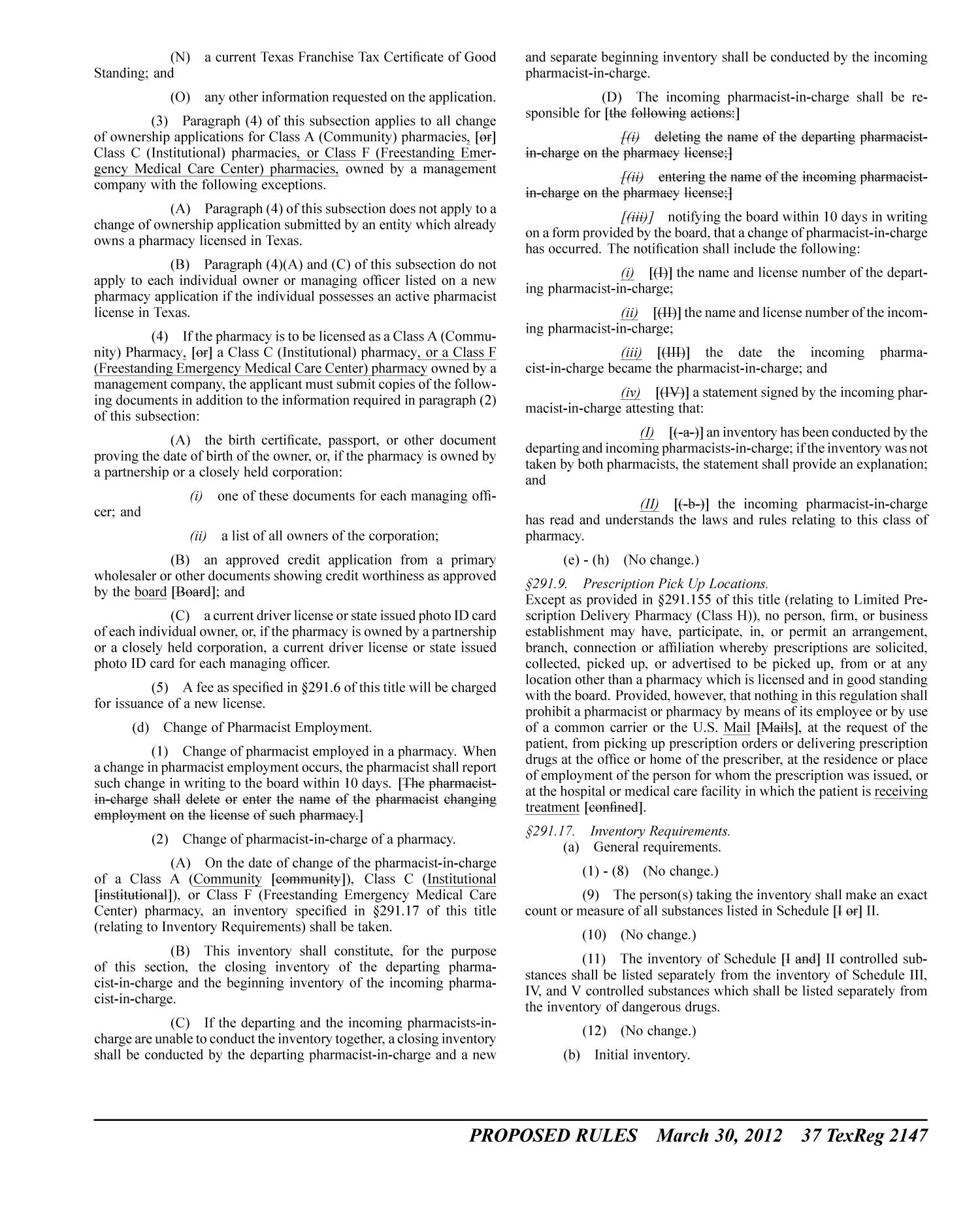 Texas Register, Volume 37, Number 13, Pages 2121-2278