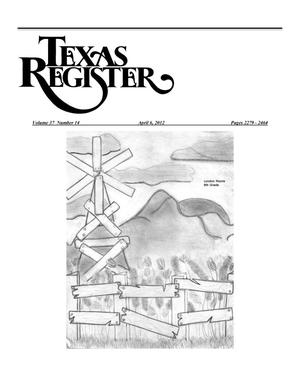 Primary view of object titled 'Texas Register, Volume 37, Number 14, Pages 2279-2464, April 6, 2012'.
