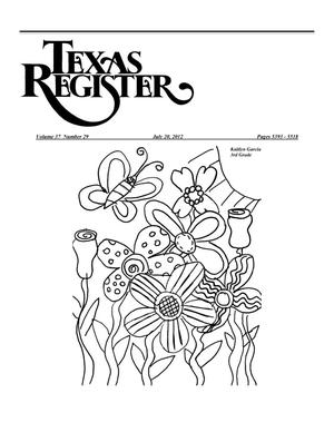 Primary view of object titled 'Texas Register, Volume 37, Number 29, Pages 5393-5518, July 20, 2012'.