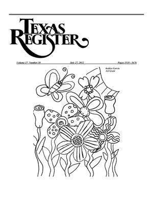Primary view of object titled 'Texas Register, Volume 37, Number 30, Pages 5519-5676, July 27, 2012'.