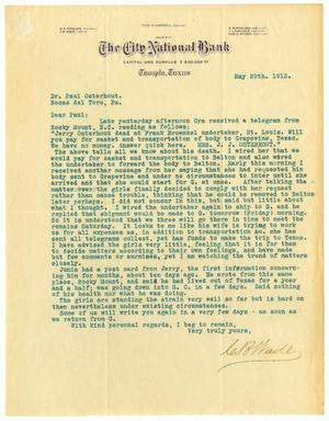 Primary view of object titled '[Letter from C. B. Wade to Paul Osterhout, May 29, 1913]'.
