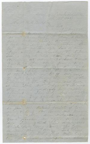 [Letter from Private H. C. Denny to Captain H. M. Bouldin, October 13, 1862]