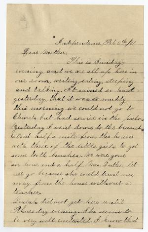 Primary view of object titled '[Letter from Gertrude Osterhout to Junia Roberts Osterhout, February 6, 1881]'.