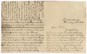 Primary view of object titled '[Letter from Gertrude Osterhout to John Patterson Osterhout, February 10, 1881]'.