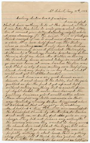 Primary view of object titled '[Letter from Gertrude Osterhout to Ora and Junia Roberts Osterhout, May 11, 1881]'.
