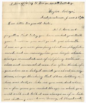 Primary view of [Letter from Gertrude Osterhout to Ora Osterhout, June 2, 1881]