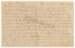 [Letter from Gertrude Osterhout to John Patterson Osterhout, November 30, 1881]