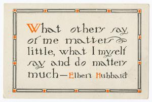 [Postcard from J. H. to Junia Roberts Osterhout, January 27, 1909]