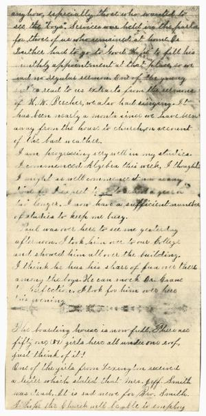 Primary view of object titled '[Letter Fragment from Gertrude Osterhout]'.