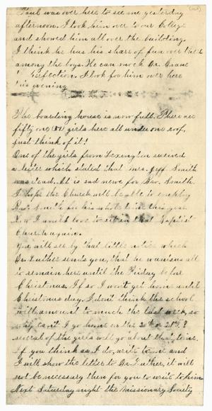 [Letter Fragment from Gertrude Osterhout]