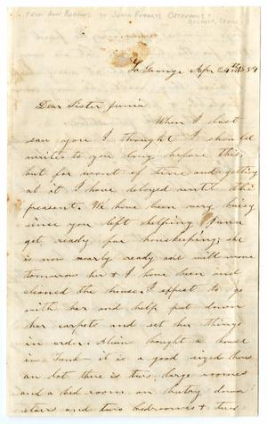 Primary view of object titled '[Letter from Ann Roberts to Junia Roberts Osterhout, April 24, 1859]'.