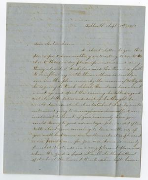 Primary view of object titled '[Letter from Junia Roberts Osterhout to Ann Roberts, September 1, 1859]'.