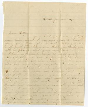 [Letter from Elvira Spurgin to Bettie Wade, January 28, 1868]