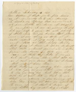 Primary view of object titled '[Letter from H. M. Bouldin to George W. and Bettie Wade, February 15, 1868]'.