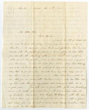 Primary view of object titled '[Letter from Jennie to Bettie Wade, April 5, 1868]'.
