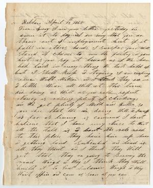 Primary view of object titled '[Letter from H. M. and J. Bouldin to George W. Wade, April 12, 1868]'.
