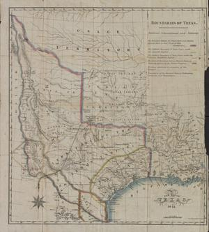 Primary view of object titled 'A new map of Texas.'.
