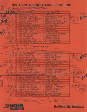 Cutting Horse Competition Entry List:  1997-derby-r07-09