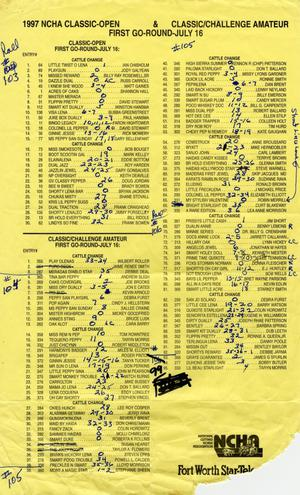 Cutting Horse Competition Entry List:  1997-derby-r103-106
