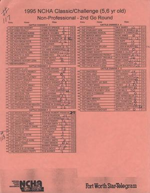 Cutting Horse Competition Entry List:  1997-derby-r117-118