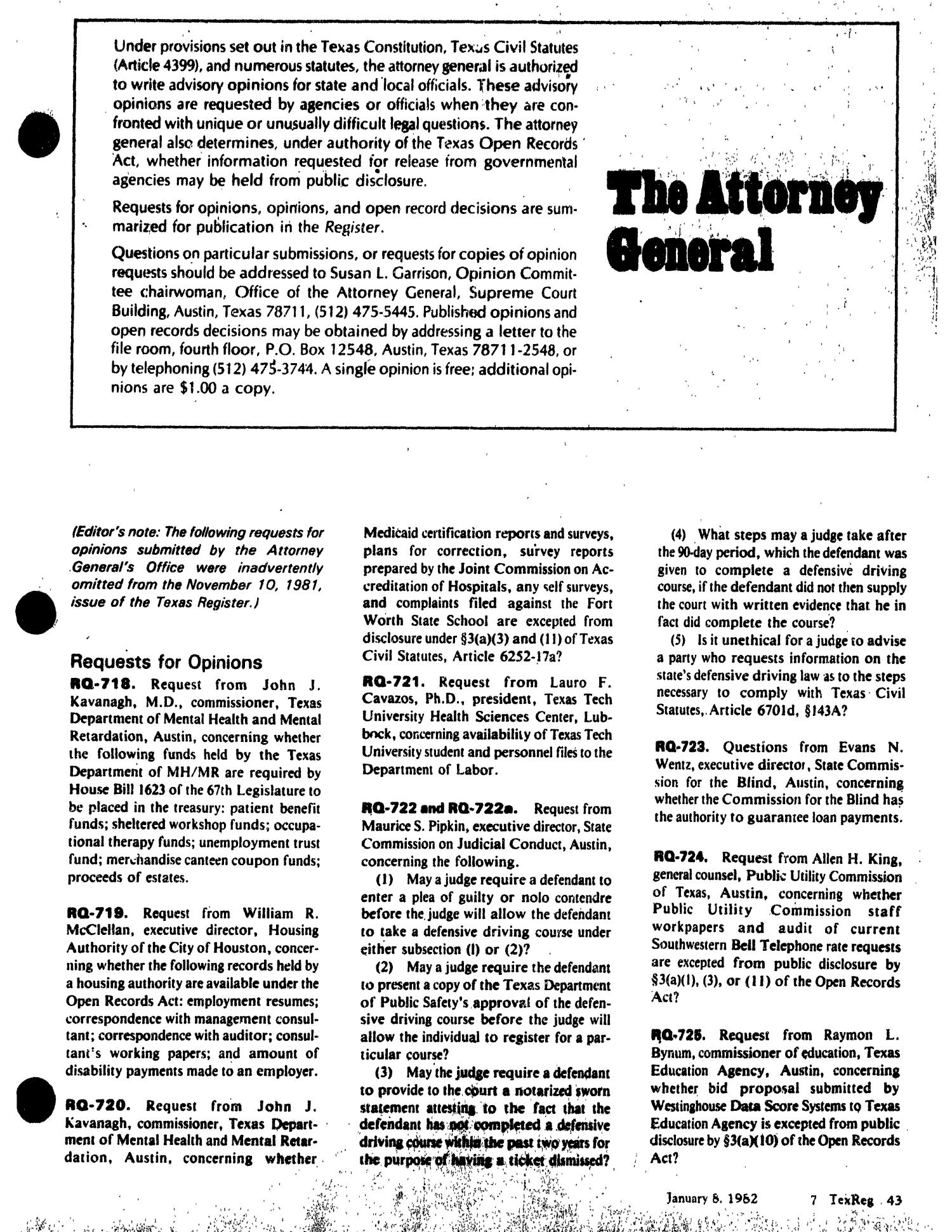Texas register volume 7 number 2 pages 39 114 january 8 1982 texas register volume 7 number 2 pages 39 114 january 8 1982 page 43 the portal to texas history xflitez Image collections