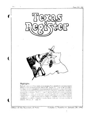 Primary view of object titled 'Texas Register, Volume 7, Number 6, Pages 315-372, January 26, 1982'.