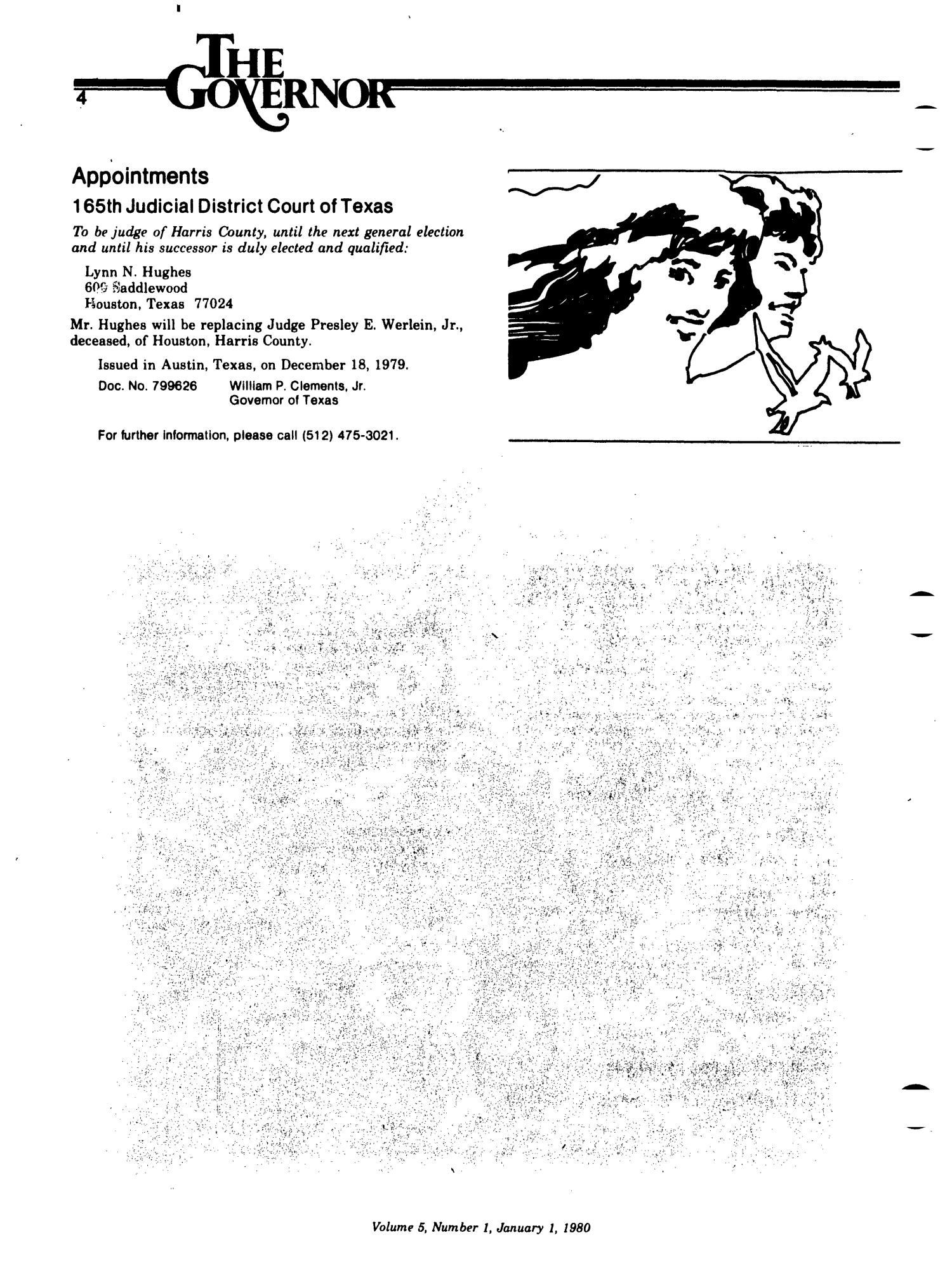 Texas Register, Volume 5, Number 1, Pages 1-30, January 1, 1980                                                                                                      4