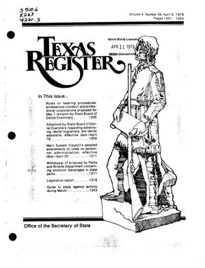 Primary view of object titled 'Texas Register, Volume 4, Number 26, Pages 1201-1254, April 6, 1979'.