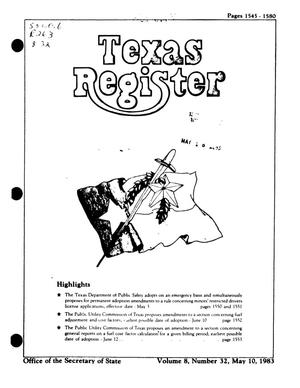 Primary view of object titled 'Texas Register, Volume 8, Number 32, Pages 1545-1580, May 10, 1983'.