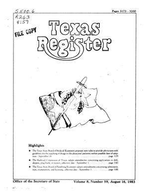 Primary view of object titled 'Texas Register, Volume 8, Number 59, Pages 3173-3200, August 16, 1983'.