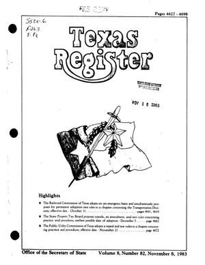 Texas Register, Volume 8, Number 82, Pages 4627-4698, November 8, 1983