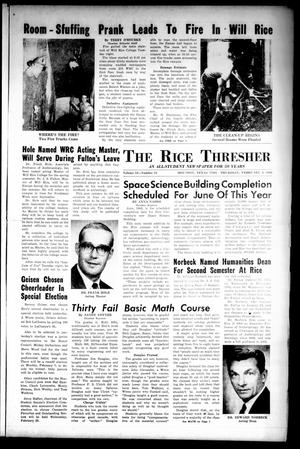 The Rice Thresher (Houston, Tex.), Vol. 53, No. 15, Ed. 1 Thursday, February 3, 1966