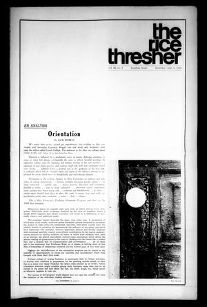 The Rice Thresher (Houston, Tex.), Vol. 56, No. 1, Ed. 1 Thursday, September 5, 1968