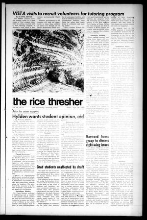 Primary view of object titled 'The Rice Thresher (Houston, Tex.), Vol. 56, No. 4, Ed. 1 Thursday, September 26, 1968'.