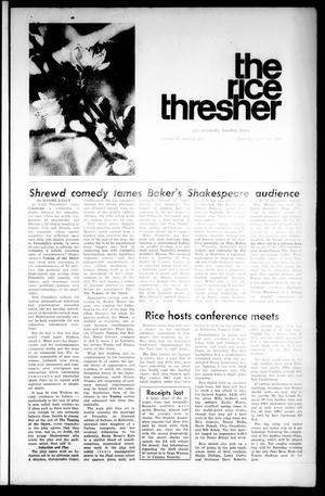 Primary view of object titled 'The Rice Thresher (Houston, Tex.), Vol. 57, No. 26, Ed. 1 Thursday, April 30, 1970'.