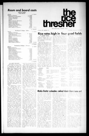 The Rice Thresher (Houston, Tex.), Vol. 58, No. 14, Ed. 1 Thursday, January 14, 1971