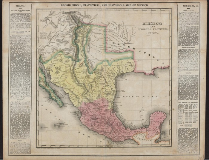 Mexico and internal provinces prepared from Humboldts map