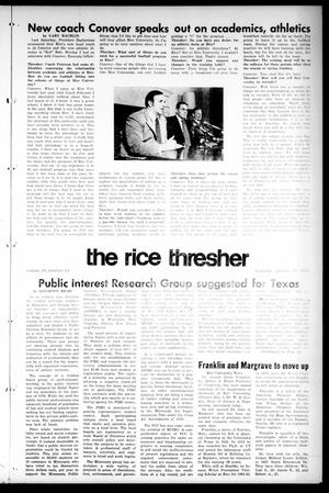 Primary view of object titled 'The Rice Thresher (Houston, Tex.), Vol. 59, No. 14, Ed. 1 Thursday, January 13, 1972'.