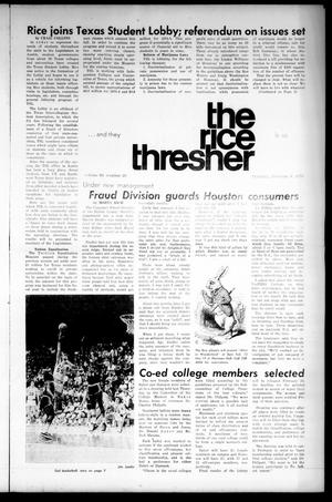 The Rice Thresher (Houston, Tex.), Vol. 60, No. 20, Ed. 1 Thursday, February 8, 1973