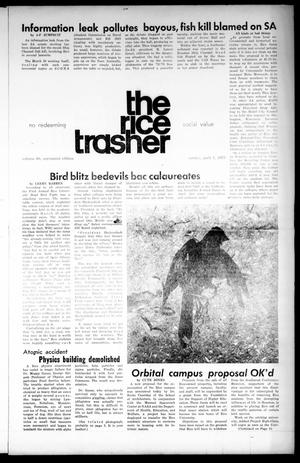The Rice Thresher (Houston, Tex.), Vol. 60, Ed. 1 Sunday, April 1, 1973