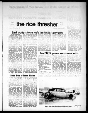 Primary view of object titled 'The Rice Thresher (Houston, Tex.), Vol. 61, No. 26, Ed. 1 Thursday, March 28, 1974'.