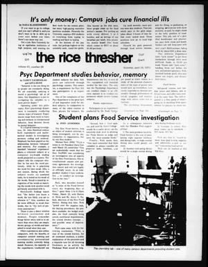Primary view of object titled 'The Rice Thresher (Houston, Tex.), Vol. 61, No. 29, Ed. 1 Thursday, April 18, 1974'.