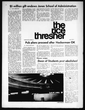 Primary view of object titled 'The Rice Thresher (Houston, Tex.), Vol. 62, No. 1, Ed. 1 Monday, July 1, 1974'.
