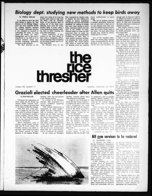 Primary view of object titled 'The Rice Thresher (Houston, Tex.), Vol. 62, No. 5, Ed. 1 Thursday, September 12, 1974'.