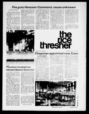 Primary view of object titled 'The Rice Thresher (Houston, Tex.), Vol. 63, No. 1, Ed. 1 Thursday, June 26, 1975'.