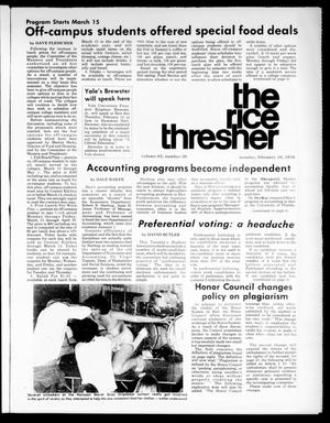 Primary view of object titled 'The Rice Thresher (Houston, Tex.), Vol. 63, No. 39, Ed. 1 Monday, February 16, 1976'.